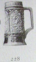 stein with musical scenes
