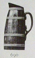 barrel shaped pitcher