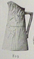 pitcher with barley design