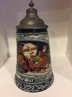Christmas lidded stein