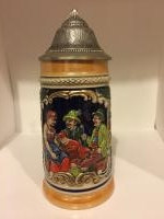 Small lidded stein, probably .3 liter