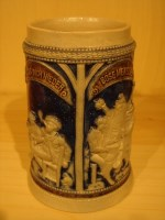 stein with high relief