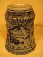 blue-gray unlidded stein