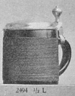 stein with linear decoration
