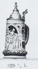 stein with relief decoration