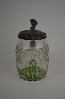 Jugendstil glass beer stein