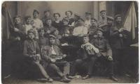 Postcard: group of reservists
