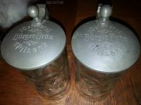 Pair of  Oelsners  Burger Brau Steins