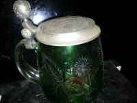 S.C.I 1980 Green Glass Stein