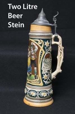 Two Litre Lidded Beer Stein