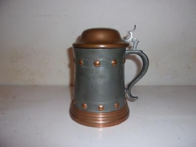 Copper-Pewter M-B Award Stein