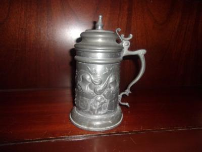 Pewter Relief Stein