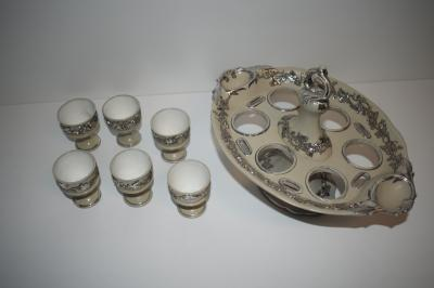 Egg cups and tray