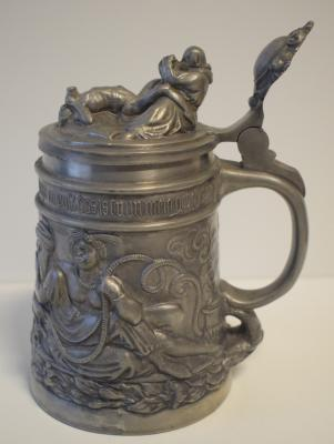 19th century pewter stein