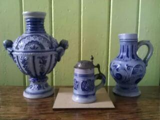 Miniature group: stein, urn, jug