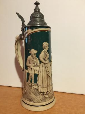 Early Beer Stein with lid