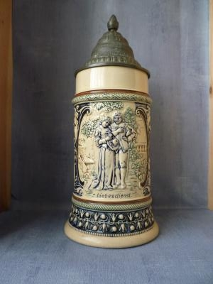 Late 19th century Betrothal stein