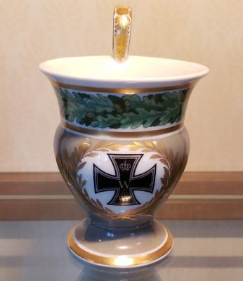 WWI-era KPM Iron Cross Cabinet Cup