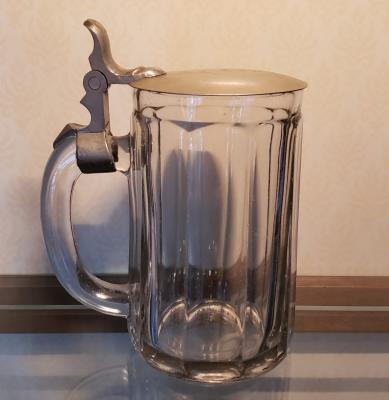 Old Glass Stein w/ Monogram