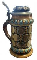 stein (decorated with coins)