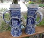 S,P GERZ PAIR OF STEINS