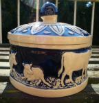 Butter Jar with Cows