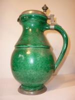 green glazed ewer